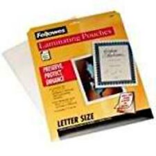 "Fellowes 52005 Laminating Sheet 8.5""x11"", Clear"