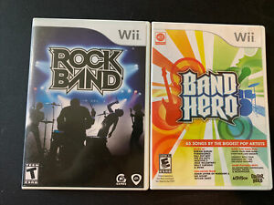 Rock Band and Band Hero Games Wii