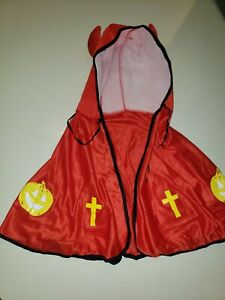 boys HALLOWEEN DEVIL CAPE boys red COSTUME HORNS ON HOOD one size ties at neck
