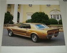 1968 Ford Mustang California Special car print (gold & black)