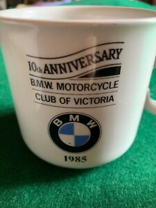 BMW MOTOR CYCLE CLUB  VICTORIA 1985 10th Anniversary Mug X 3. Australian Made