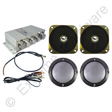 Wangma WM-333 Stereo Amplifier & 2 x Speakers Kit for Arcade Machine Cabinet
