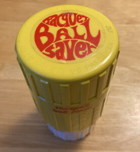 VINTAGE YELLOW RED RACQUETBALL BALL PRESSURIZER/SAVER -NICE PRE-OWNED