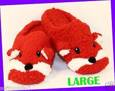 Bath Body Works FOXY Lady RED WHITE Soft Slippers SIZE; Large 9 9.5 10