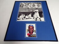 Jackie Robinson 16x20 Framed 1953 Topps Reprint Card & Photo Set Dodgers