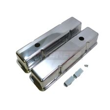 Chrome cast Aluminum Small Block Chevy Valve Cover 305350327400 Smooth Tall SBC