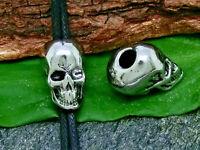Bartperle Haarperle Totenkopf Edelstahl Ø 4mm Bartschmuck skull dreadlocks