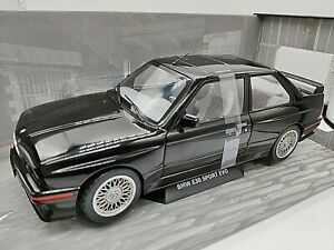 VOITURE SOLIDO BMW E30 SPORT EVO NOIR 1:18 NEUF BOITE