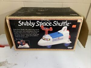 TOMY NO. 6000 (1983) Stubby Space Shuttle Toy In Box Extremely Rare