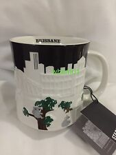 Starbucks Brisbane Relief Mug Koala Tree Bridge Australia Black Skyline