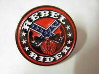 Rebel Rider bikers pin badge. Red Skull, Nice design