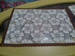 2 Lace Placemats/ Tray Cloths