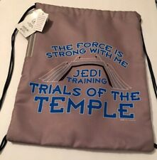Disney Parks Star Wars Jedi Trials Of The Temple Cinch Sac Bag Backpack New