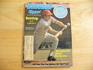 Baseball Digest Magazine - May 1974 (Ted Sizemore) - VINTAGE