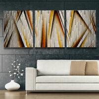 XL Metal Wall Art - Modern Abstract Sculpture Contemporary Painting - Home Decor