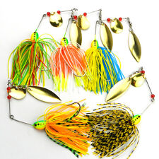 5x Mixed Color Spinner Fishing Lures Bass CrankBait Crank  Bait Tackle Ho Gift