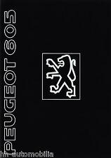 Prospekt Peugeot 605 1991 Autoprospekt Auto PKWs Broschüre brochure broschyr