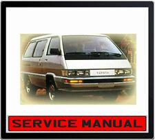 TOYOTA TARAGO VAN 1982-1989 SERVICE REPAIR MANUAL IN DVD