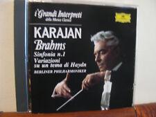 KARAJAN Brahms sinfonia n.1... CD-DEUTSCHE Grammoph-Grandi interpreti-DeAgostini