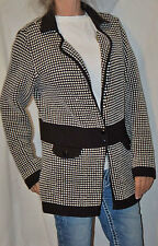 LES COPAINS blue label Cardigan black white cardigan super soft wool size 48 L