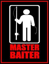 FISHING HUMOR MASTER BAITER FISHERMAN TACKLE BOX BOAT COOLER BEER FRIDGE MAGNET