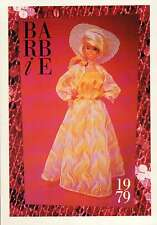 "Barbie Collectible Fashion Trading Card  /"" Sleek /'n Chic /"" Ribbed Knit Gown 1979"