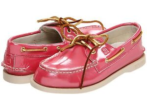 SPERRY Shoes TOP-SIDER  Pink  Patent SHOES Toddler Girls 8 M