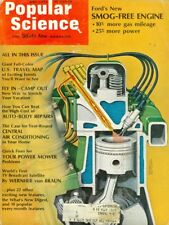 1970 Popular Science Magazine: Ford Smog-Free Engine/US Travel Map/TV Satellite