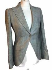 Dolce & Gabbana D&G Linen Wool Fitted Blazer Jacket Work Career Office 36 6 XS