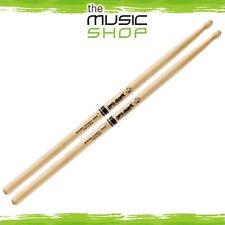 Set of Promark Shira Kashi Oak 747B 'Super Rock' Drumsticks - PW747BW Oval Wood