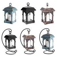 Waterproof Solar Powered Lantern Light Hanging Outdoor Garden LED Candle Lamp