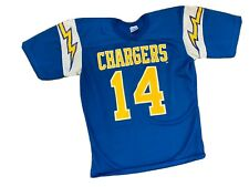 Vintage 80's Rawlings NFL San Diego Chargers Dan Fouts Football Jersey Size M