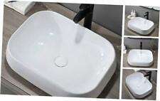 "New listing Modern 22"" X 17"" Porcelain Ceramic Above Counter Bathroom Vessel Sink, Countert"