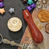 Retro Animal Pattern Wax Seal Stamps Wooden Handle Envelope Sealing Wax
