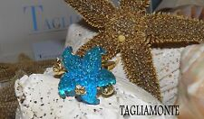 TAGLIAMONTE(568)Ring*Size 11-1/4*YGP925*MARINA*Large AQUA Starfish*7.75 grams