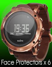 Suunto Essential watch face protectors x 6 protection Copper Black