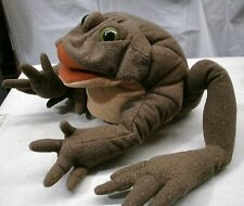 Folkmanis Folktails Plush Toad Frog Hand Puppet Large