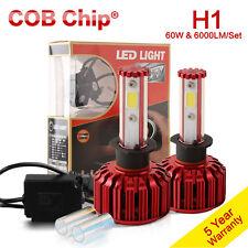 60W 6000LM COB LED Headlight Kit H1 5000K 6000K White Color Canbus Bulb One Pair