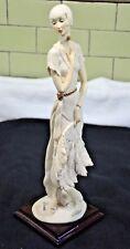 "Vintage Capodimonte Florence Giuseppe Armani figurines Lily 1987 13.5"""