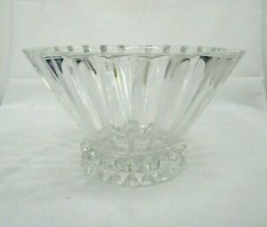 """Crystal Rosenthal Blossom Fluted Bowl, 10""""x 6"""" Heavy"""