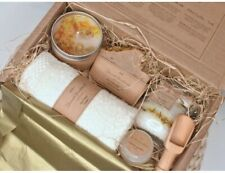 Handmade Vanilla Calendula Soap Bar, Scented Candle, Lip Balm & More Pamper Set