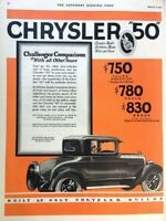 1927 Chrysler 50 Automobile Vintage Advertisement 11x14 Print Art Car Ad LG66