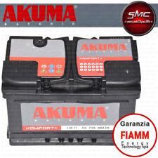 BATTERIA AUTO AKUMA = FIAMM 71 AH 12V 680A EN ORIGINALE NUOVA -