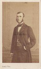 Portrait studio Homme cdv de Franck Paris Vintage albumine ca 1860