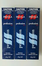 3 x INDOLA PROFESSION PROTEIN CREAM COLOUR - RED VIOLET BLONDE   60G