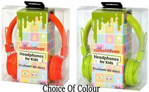 New Nickelodeon NIC-1773 Kids Childs Orange Or Green Headphones Stocking Filler
