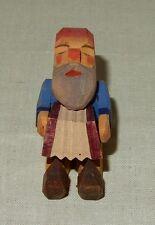 Geschnitzte Figur Zwerg mit Akkordeon Echt Erzgebirge Seiffen Olbernhau alt 1940