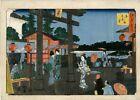 """Véritable Estampe Japonaise Originale De Hiroshige """"Le Sanctuaire De Tenmangû.."""""""