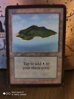 Island (V.2) - ALPHA Edition  - Old School - MTG MP Magic The Gathering