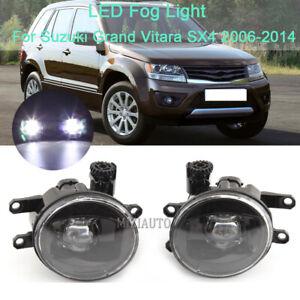 Pair LED Fog Light For Suzuki Grand Vitara SX4 2006 2007-2013 2014 Driving Lamps